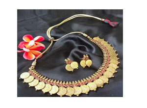 Chaahat tradition temple coin jewellery set