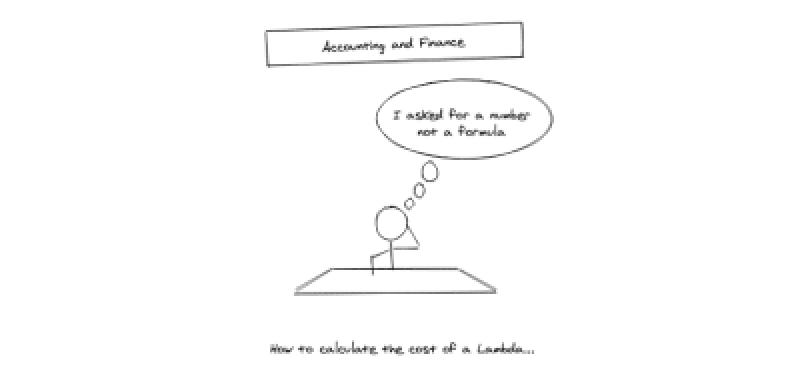 Une bande dessinée stickman assis à un bureau avec une bulle de réflexion disant qu'il a demandé un nombre et non une formule