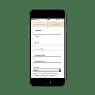 GoToMeeting lead capture form