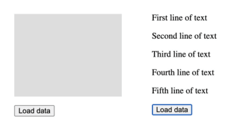 L'espace réservé squelette est affiché sur le parent jusqu'à ce que tous les conteneurs de données (éléments de paragraphe profondément imbriqués) soient remplis de données.
