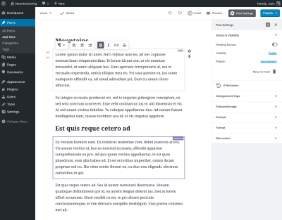 Real-time collaboration through Gutenberg
