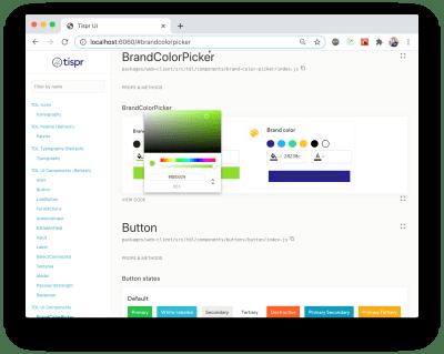 Composant d'interface utilisateur du sélecteur de couleurs personnalisé