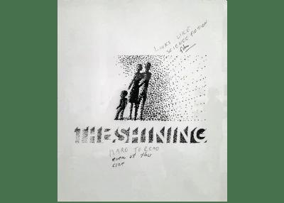 Une conception d'affiche rejetée pour le long métrage de Stanley Kubrick «The Shining»