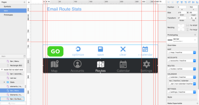 Footer symbols and overrides in the program Sketch.