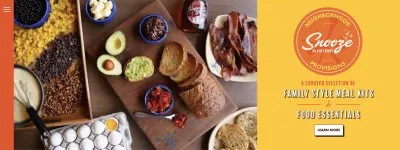 Snooze Eatery neighborhood provisions: family-style meal kits and food essentials