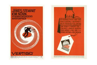 Affiches pour les films «Vertigo» et «Conseiller et consentir»