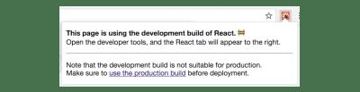 """React Avertissement de """"production de production"""" des outils de développement"""
