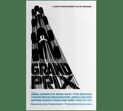 Affiche conçue par Saul Bass pour le long métrage «Grand Prix»