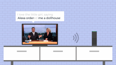 The anchorman's sentence triggered a lot of Echo devices to order dollhouses immediately.