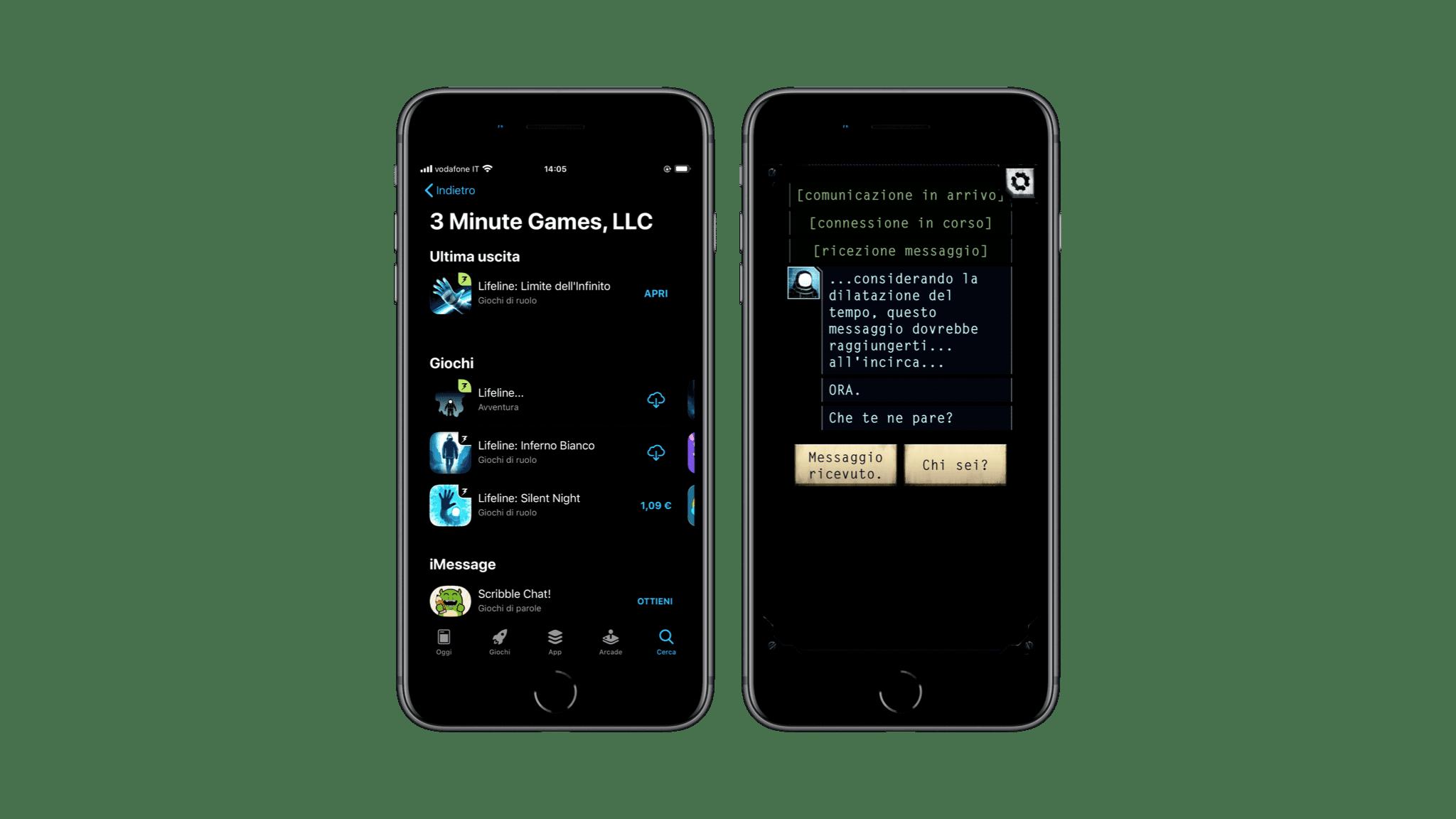 Lifeline, giocare mandando messaggi