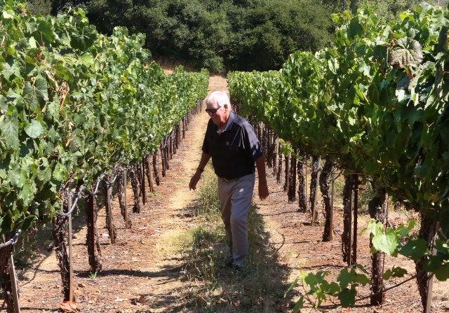 Bill Foley at his Chalk Hill Estate Vineyards and Winery in Healdsburg, California.
