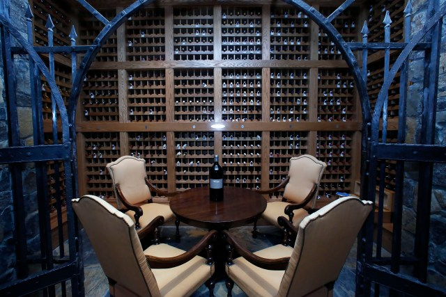 Chalk Hill Estate Vineyards' underground wine cellar, owned by the Vegas Golden Knights owner Bill Foley