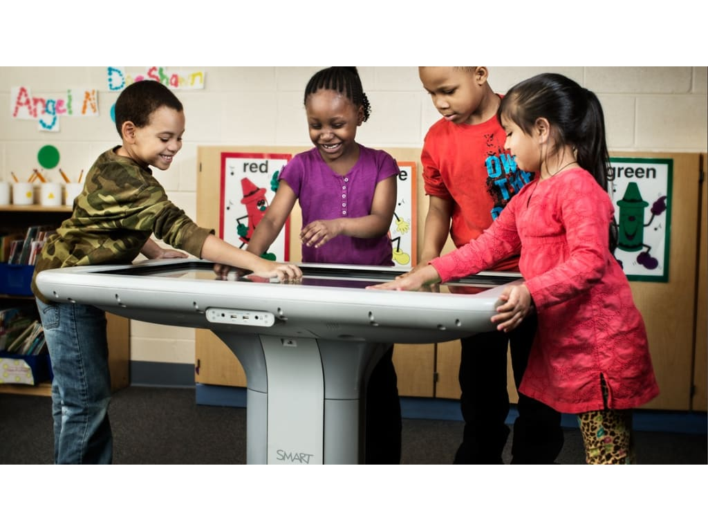 smart 442i collaborative table learning center