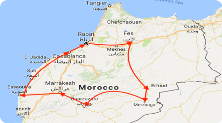 morocco explorer tour map