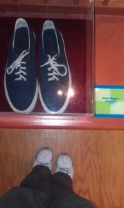 Part of Pittsburgh's culture.  Mr. Roger's sneakers.  With my sneakers.  At the Children's Museum.