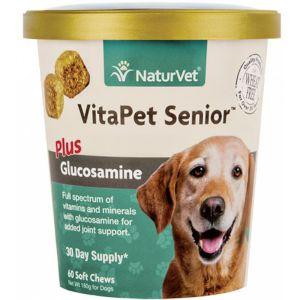 NaturVet VitaPet Senior Plus Glucosamine Soft Chew Cup