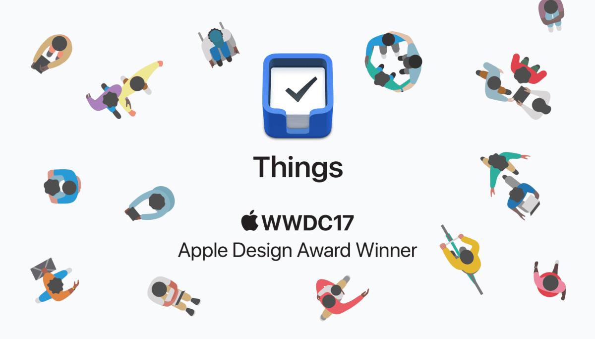 Things 3得到 2017 WWDC 設計大獎