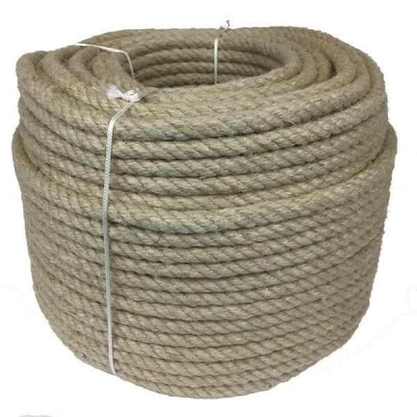 corde chanvre diam 14 mm naturel.