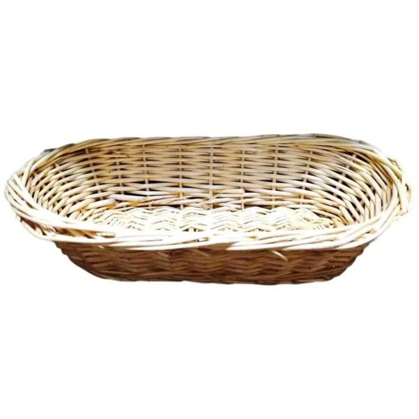 Corbeille à pain ovale en osier