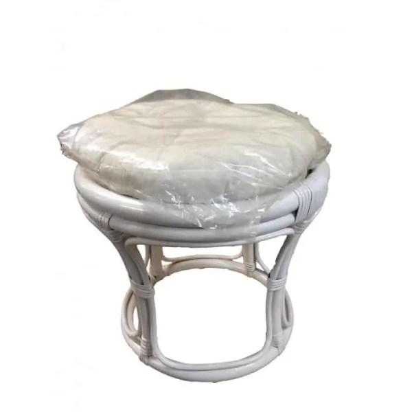 Pouf en rotin avec coussin écru, différents coloris