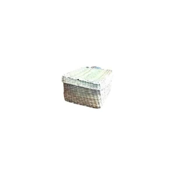 Mini coffret carré en jonc 15cm