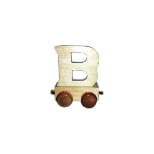 Lettre B du train, en bois