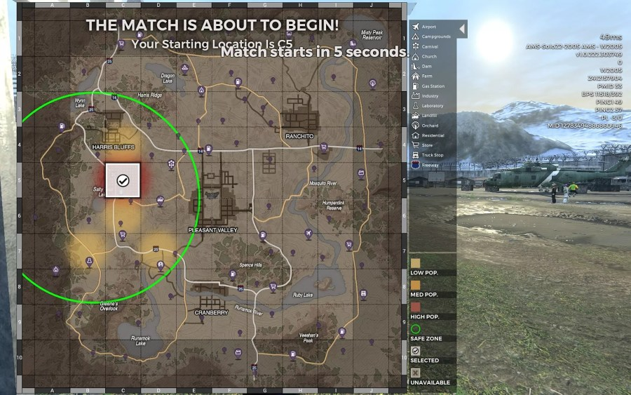 H1Z1 Tips and Tricks Guide  2018    H1Z1 a landing zone encircled in green in H1Z1