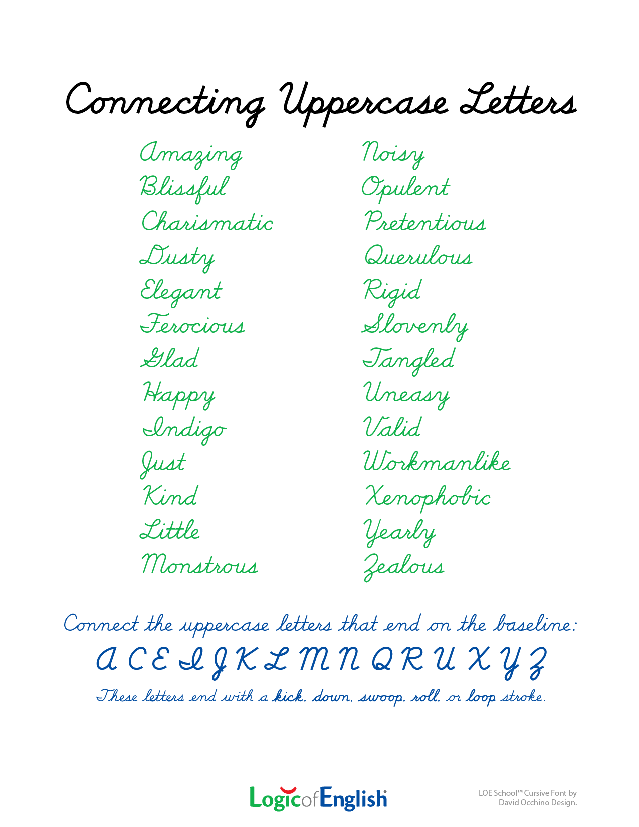 Cursive Capital G Connect