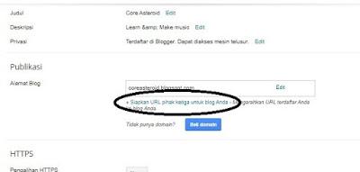 Cara Menghubungkan Domain .me ke Blogger