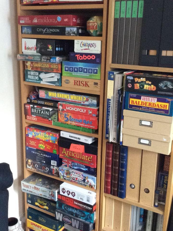 The selection of games to kick things off at Kinky Board Games (image supplied)