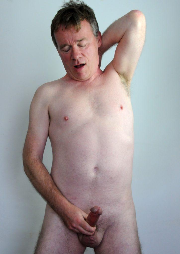 Richard Crowe strips, masturbates and cums (5)