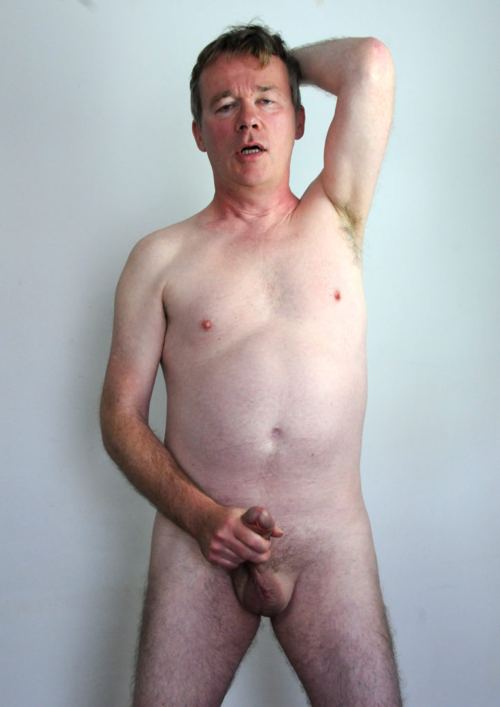 Richard Crowe strips, masturbates and cums (3)