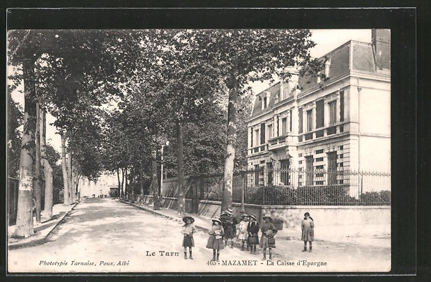 A vintage photo of Mazamet in the South of France (image supplied)