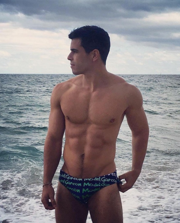 Navy Graffiti Swim Brief (image courtesy of Garçon Model)