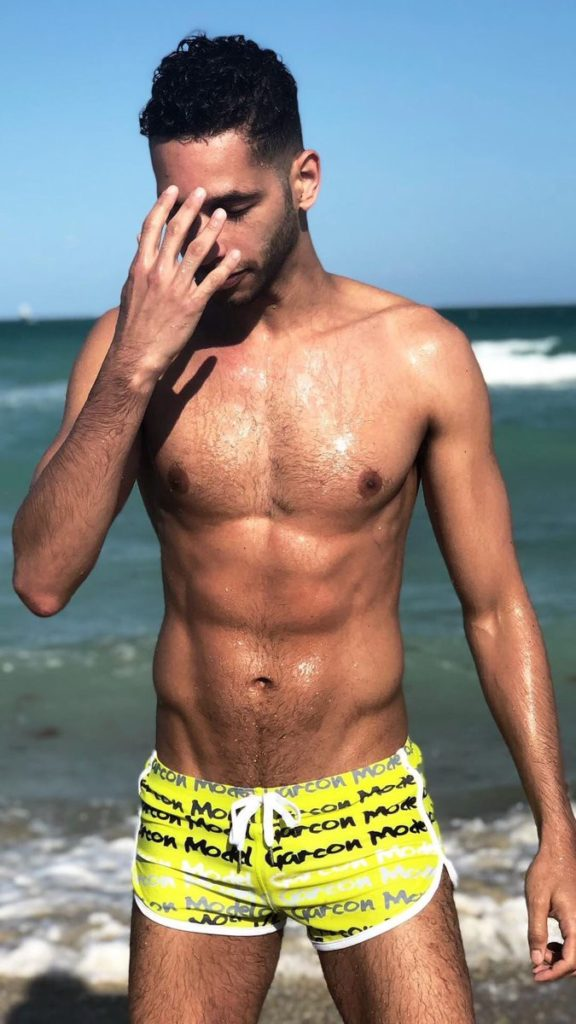 The Yellow Graffiti Swim Short (image courtesy of Garçon Model)