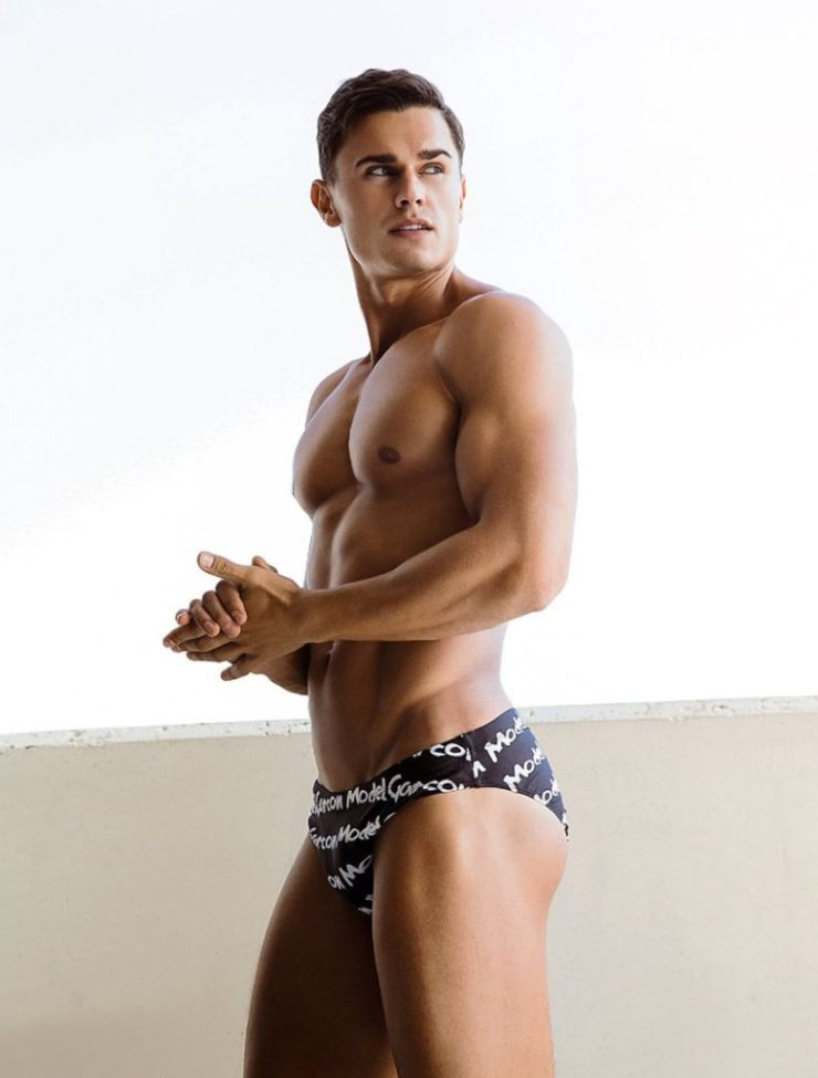 The Black Graffiti Swim Brief. Photo: Ted Sun (image courtesy of Garçon Model)