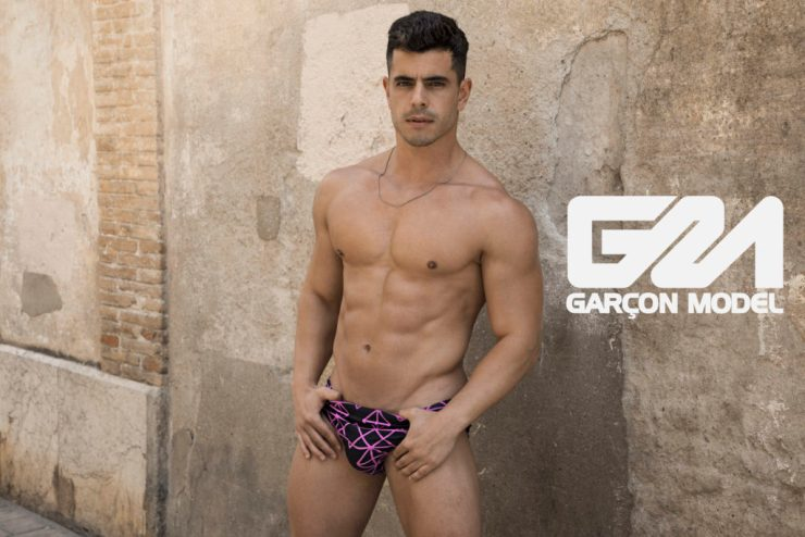 @igperey in the Quantum swimwear range for Garçon Model. Photo: Rick Day (image supplied)