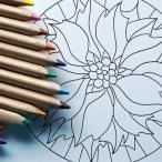 dibujo de mandalas con lápices de colores