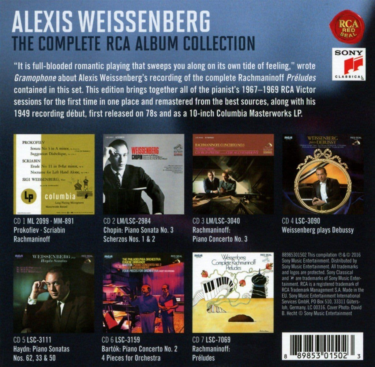 Photo No.2 of Alexis Weissenberg: The Complete RCA Album Collection