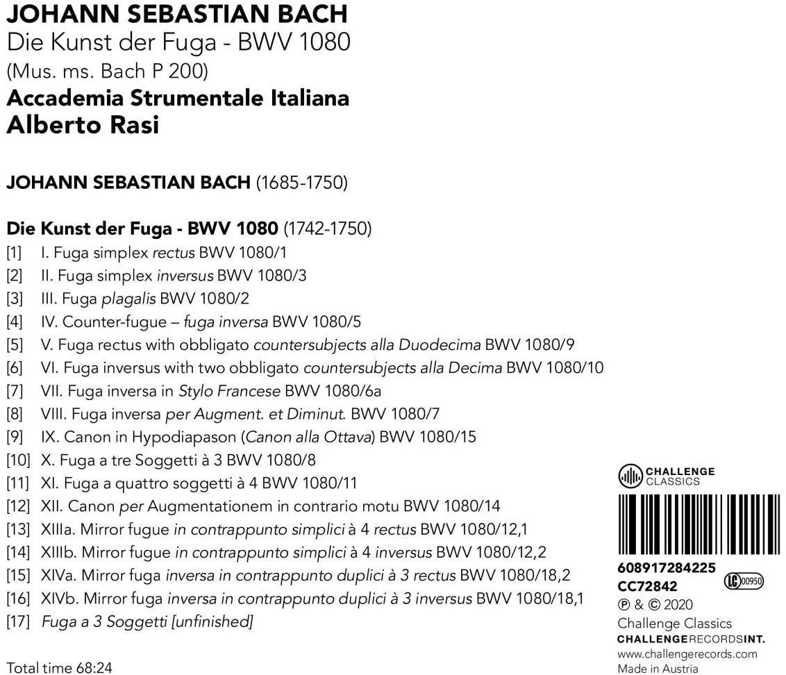 Photo No.2 of Die Kunst der Fuga, BWV 1080 (Mus. Ms. Bach P 200)