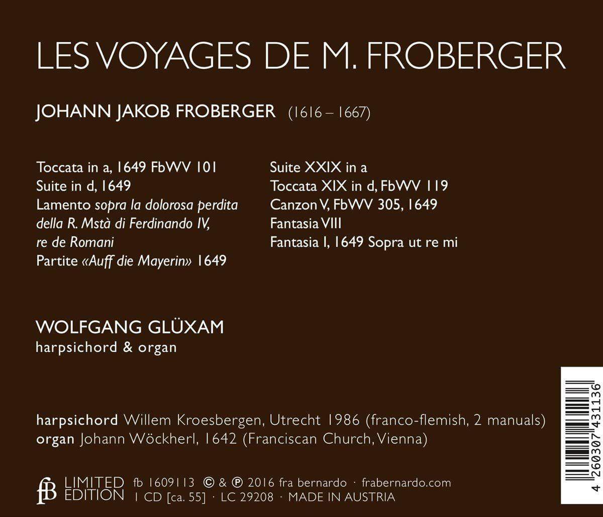 Photo No.2 of Johann Jakob Froberger: Les Voyages de M. Froberger