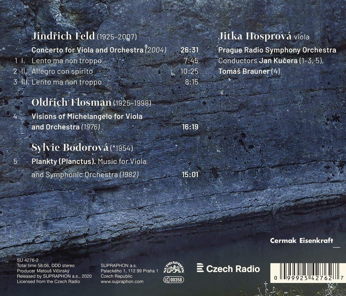 Photo No.2 of Czech Viola Concertos - Music by Feld, Flosman; Bodorova
