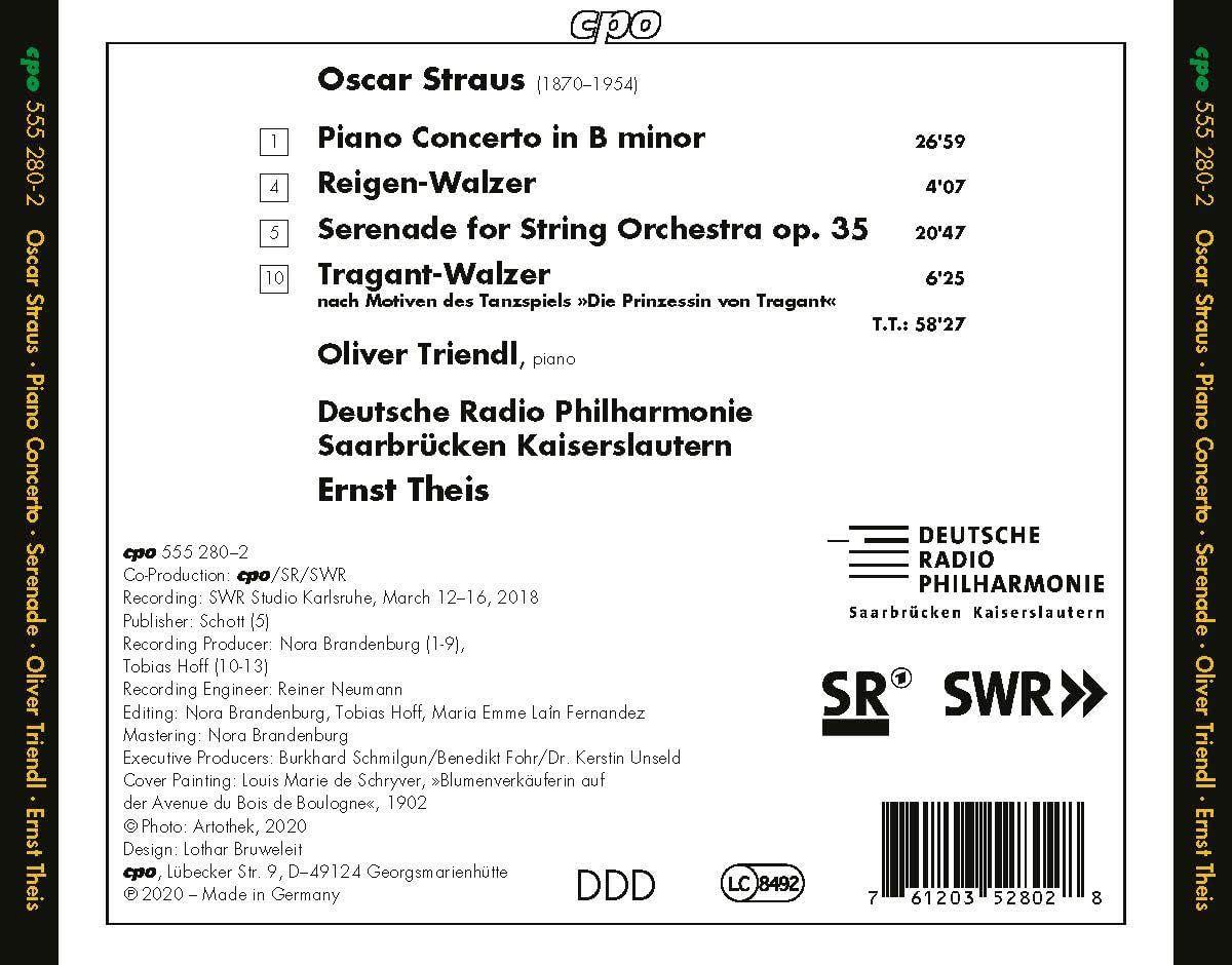 Photo No.2 of Oscar Straus: Piano Concerto & Serenade