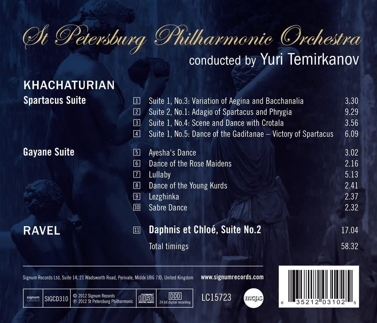Photo No.2 of Khachaturian: Orchestral Suites from Spartacus & Gayaneh