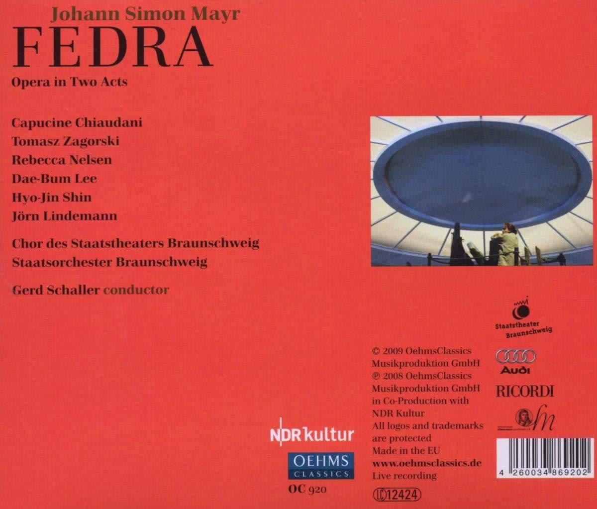 Photo No.2 of Johann Simon Mayr: Fedra