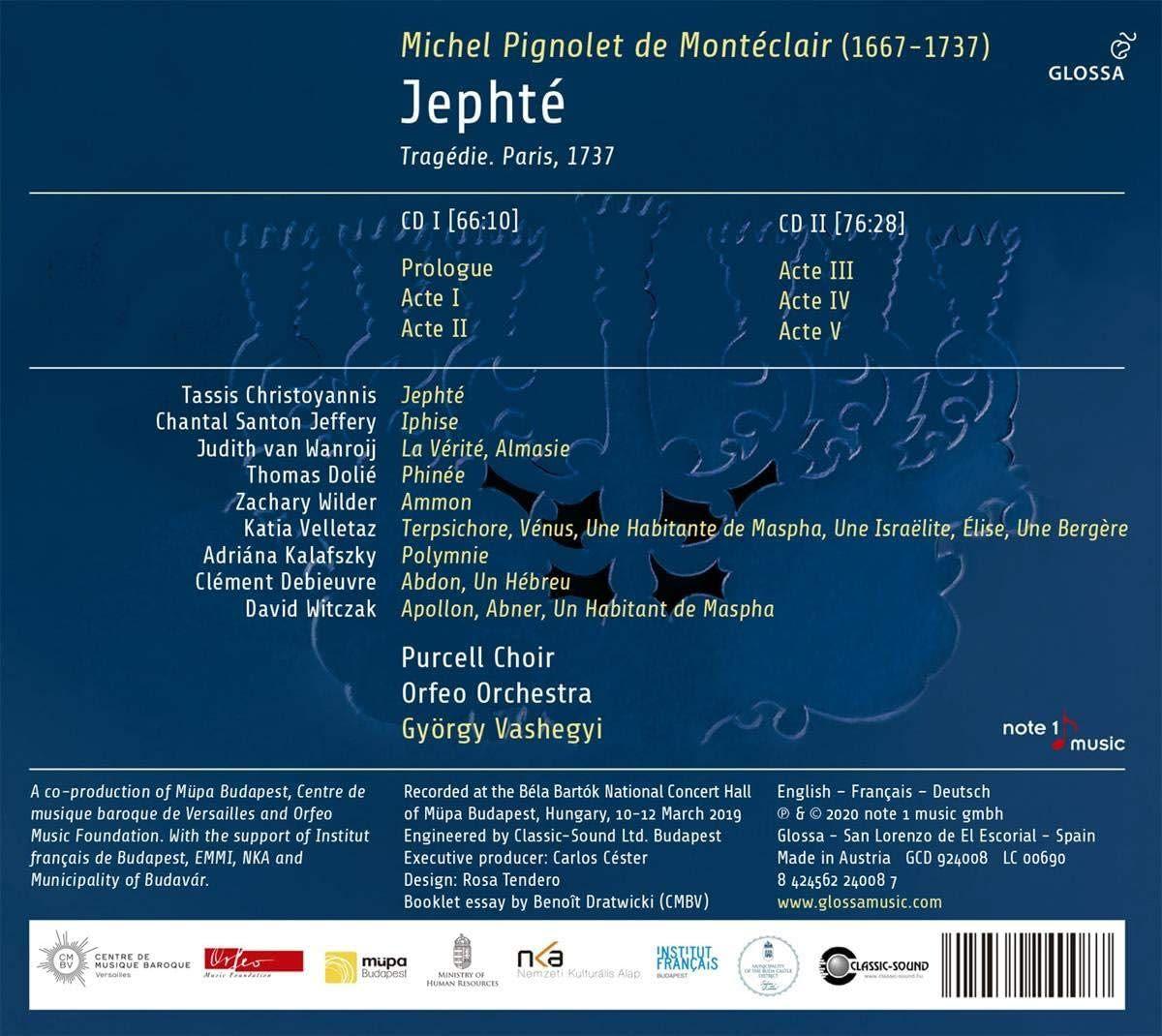 Photo No.2 of Michel Pignolet de Monteclair: Jephte