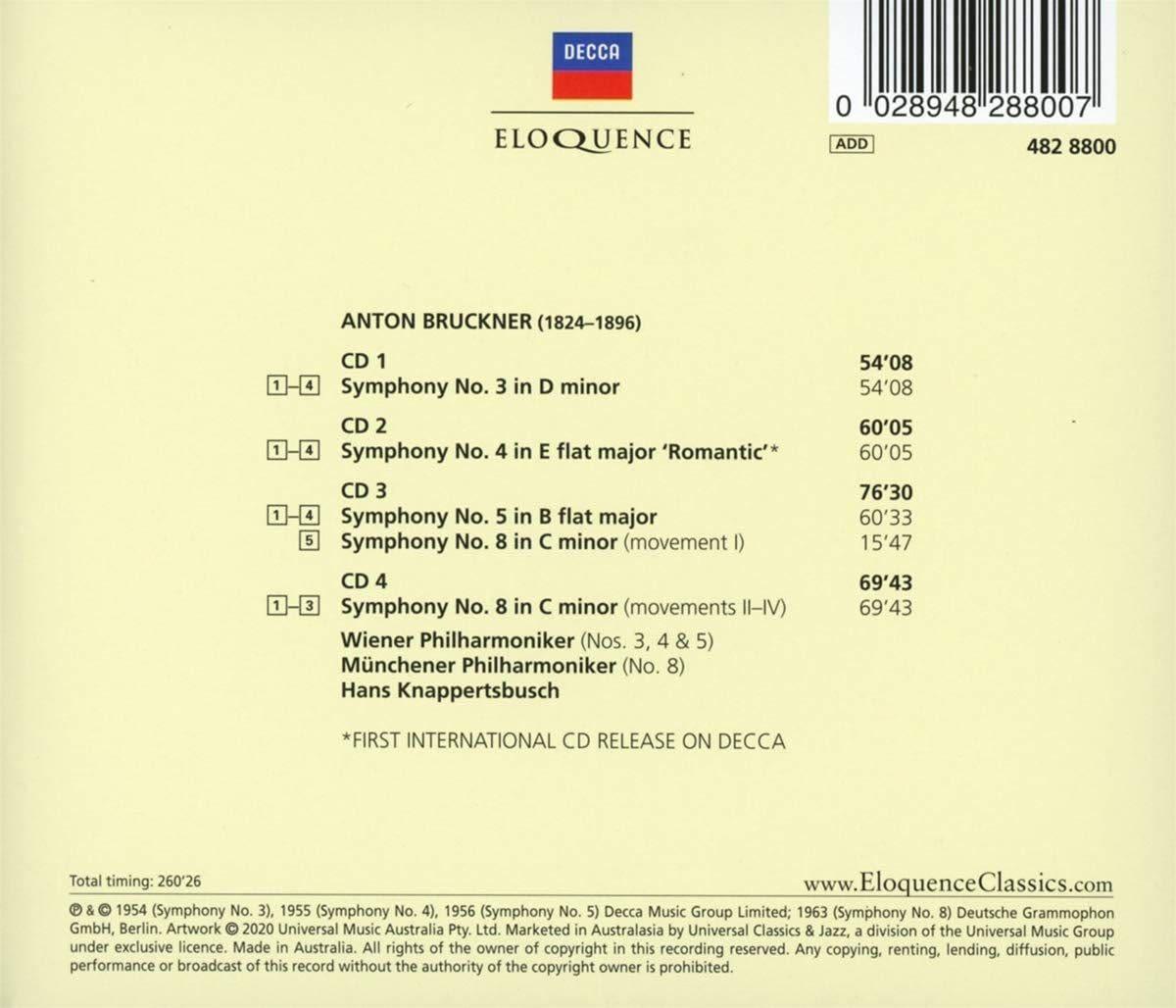 Photo No.2 of Hans Knappertsbusch – The Decca & Westminster Bruckner Recordings