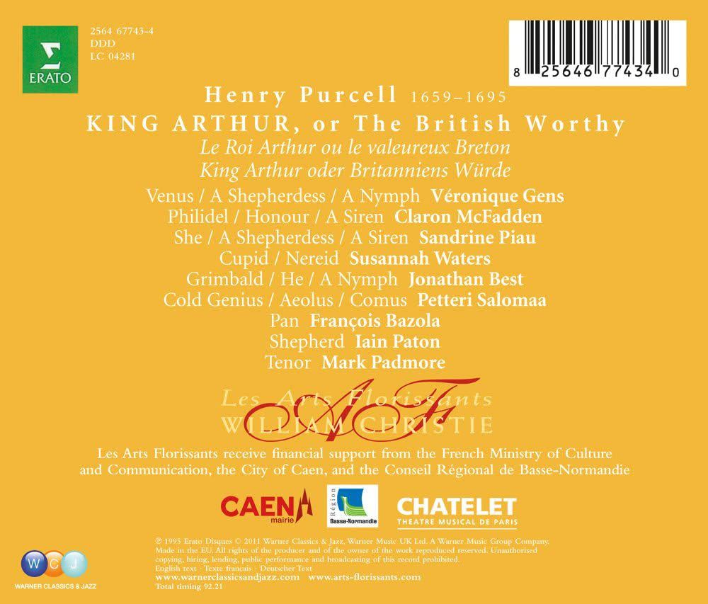 Photo No.2 of Purcell: King Arthur, Z628