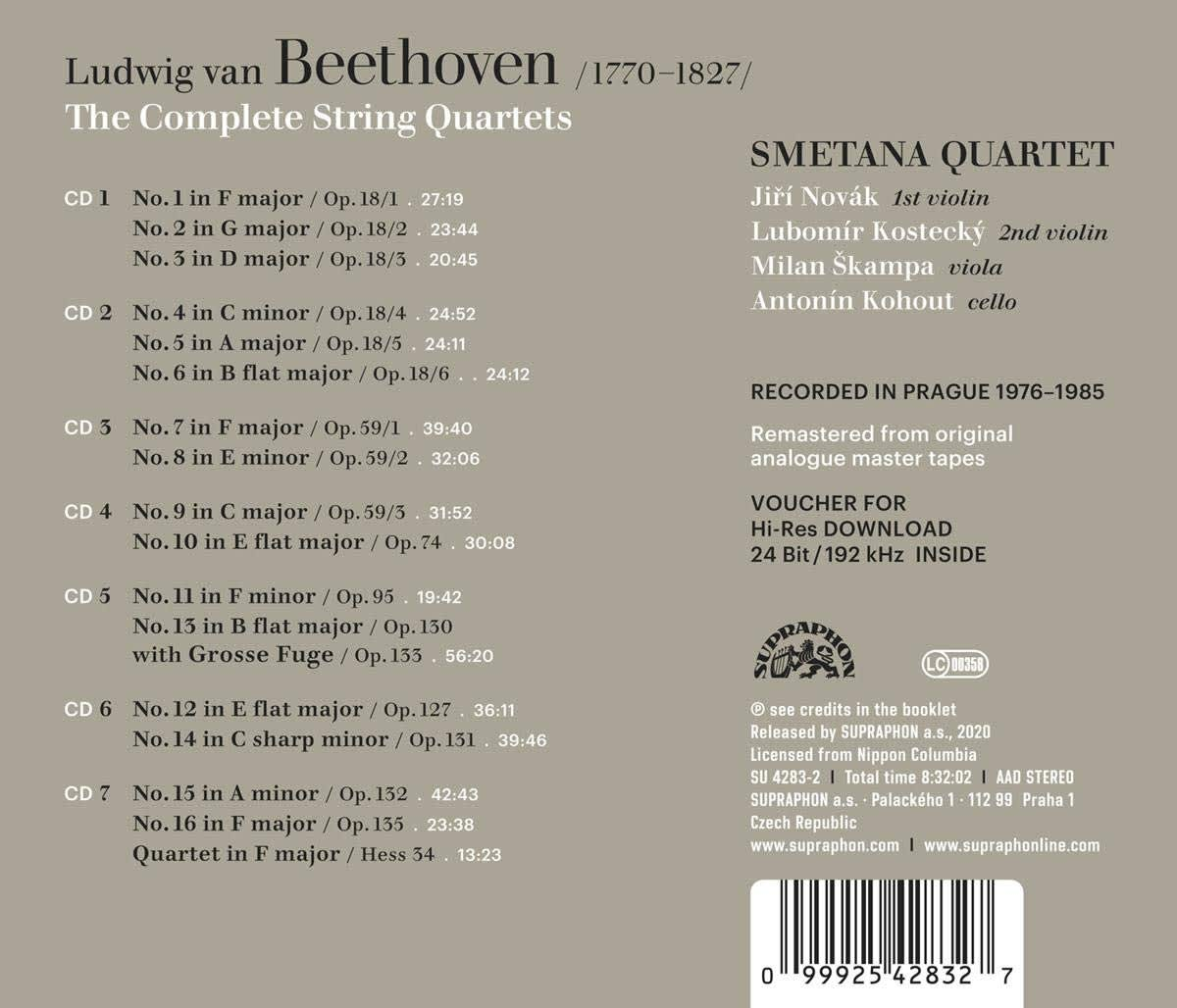 Photo No.2 of Beethoven: Complete String Quartets