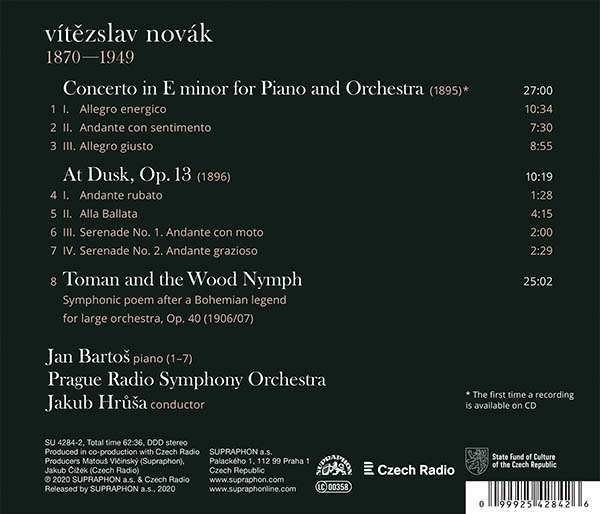 Photo No.2 of Novák: Piano Concerto & Toman and the Wood Nymph